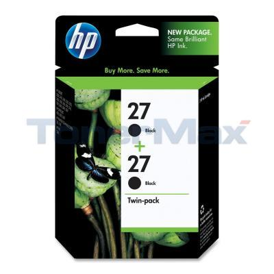 HP NO 27 INK CARTRIDGE BLACK TWIN-PACK